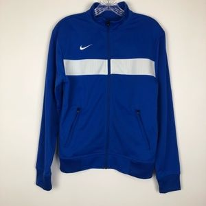 NIKE M SMALL BLUE TRACK WARMU UP JACKET